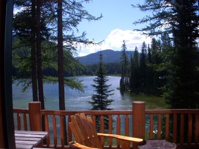 Spacious log cabin on secluded lake by west vrbo for Log cabin portici e ponti