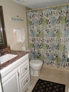 Master bathroom that can be shut off and privitized from other condo areas.