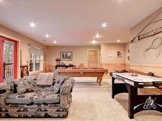 Wears Valley cabin photo - Den, Game Room with Air Hockey lower level