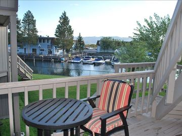 Tahoe Keys condo rental - marina view