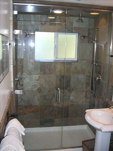 Bathroom- Stand up Shower with double shower heads