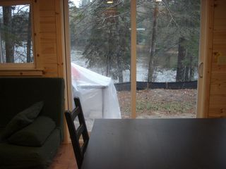 Grayling cabin photo - View of the Au Sable from the kitchen.