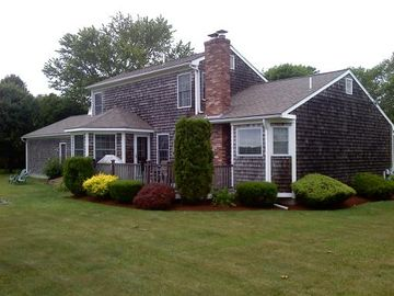 Saunderstown house rental - Beautiful back yard and deck for grilling and relaxing.
