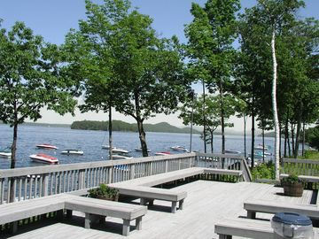 Gilford condo rental - Samoset's sun deck that over looks beautiful Lake Winnipesaukee.
