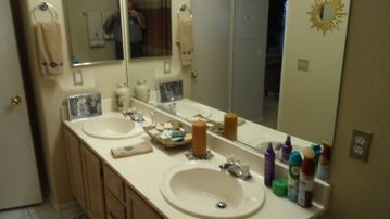 Full Bathroom with Garden Tub and Shower with Amenities