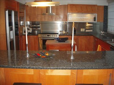 Ultra Kitchen w/6 burner gas stove and all top line appliances