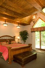 Seven Springs house photo - 1st floor Master Suite with private bath and doors to rear deck