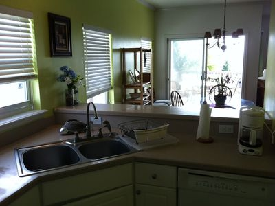 Amelia Island house rental - fully equipped kitchen - double sink - ice maker