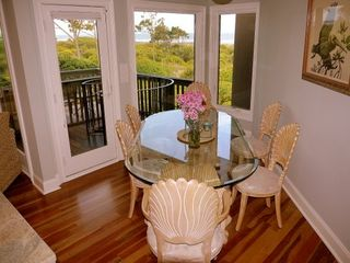 Kiawah Island villa photo - Stunning ocean views from the dining area in the west unit.