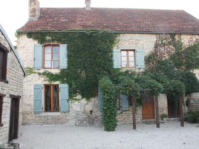 Front of Maison Valois in private, gated courtyard