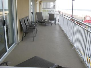 Oceans Mist Ocean City condo photo - View of Balcony with access from Master Bedroom and Living Room