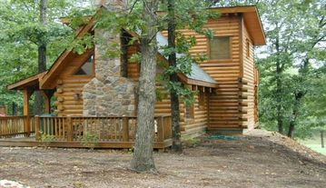 Branson cabin rental - The Lil' Treehouse @ ThisLogCabin.com