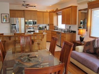 Kailua Kona house rental - Dining room and gourmet kitchen.