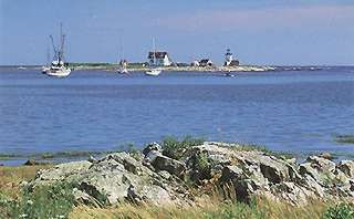 Kennebunkport cottage photo - Goat Island Lighthouse - view from cottage