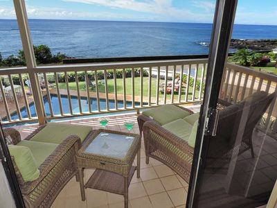 Koloa condo rental - The lanai also features a comfortable seating area.