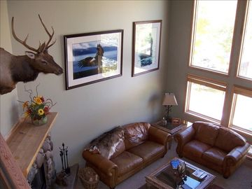 Deer Valley townhome rental - Living room view from stairs