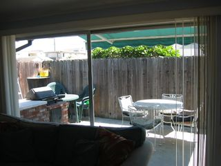 Newport Beach house photo - Patio. Photo from inside house.