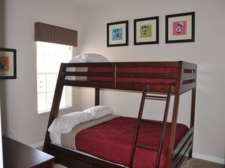 Oakwater townhome photo - Twin Bedroom - Full/Twin bunk bed with Orthopedic pillowtop mattress (Full size)