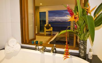The view from your bath - pure luxury.