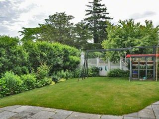 Edgartown house photo - Backyard Perennial Gardens & Play Structure
