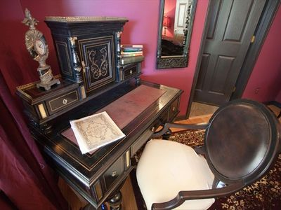 inviting writing desks in every bedroom