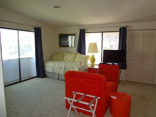 Bethany Beach house photo - East side of master bedroom with twin trundle bed and balcony