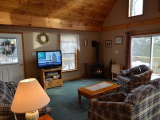 Conway house photo - Large windows and slider doors make this living area very bright and cheerful!