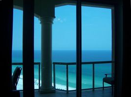 View of Beach and Gulf of Mexico from family room.