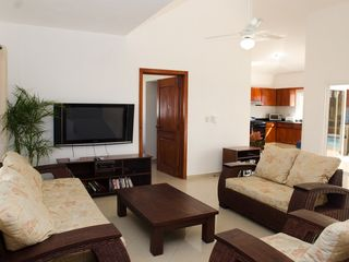 Sosua villa photo - Living Room (and Kitchen)