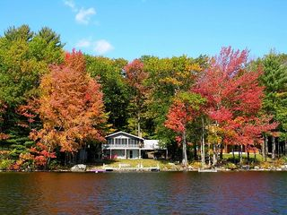 Acton chalet photo - Fall colors on Horn Pond