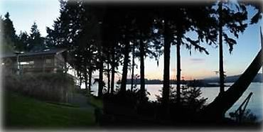 Sooke house rental - Beautiful Pacific Sunsets on a private setting