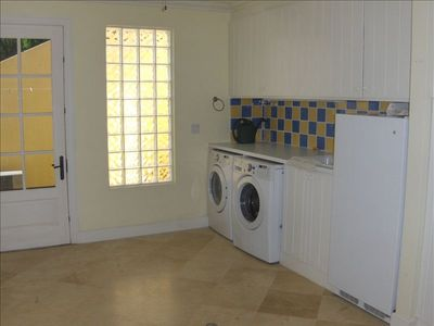 spacious and very useful laundry room!!