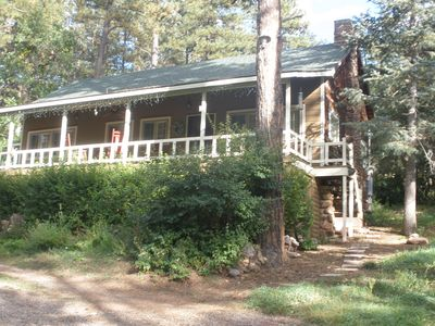 Lovely cabin a midst majestic pine trees