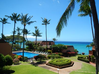 Beautiful ocean and garden views await you on Kuleana 201's lanai.