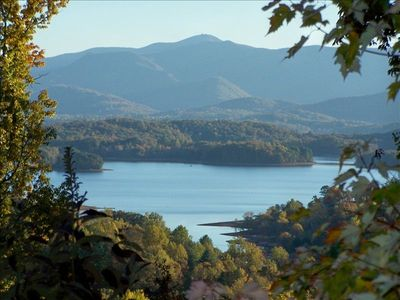 Hayesville cabin rental - VIEW OF LAKE CHATUGUE FROM UP THE MOUNTAIN A WAYS.