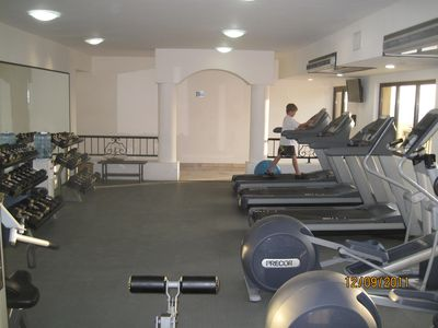 Exercise facility at hotel included when booking