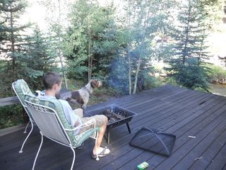 Early Morning enjoying a cup of coffee, a fire, and watching the water! - Nederland lodge vacation rental photo