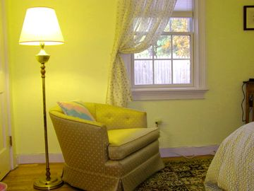 Both of the main bedrooms have comfortable, well-lit reading corners.