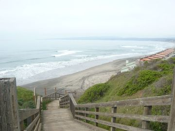 La Selva Beach townhome rental - Stairs to the Beach a short walk away.
