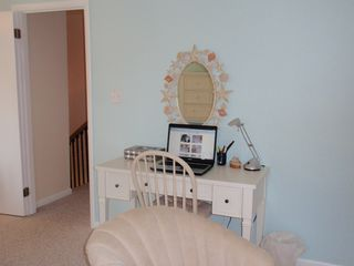 Bethany Beach townhome photo - The desk/vanity in the master bedroom. The entire house is wired for Wi-Fi.