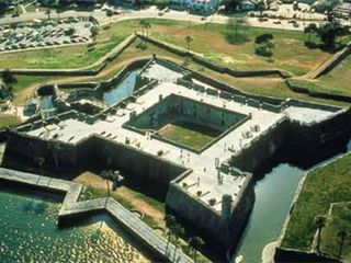 St. Augustine Beach house photo - Castillo de San Marcos aerial view Historic St Augustine