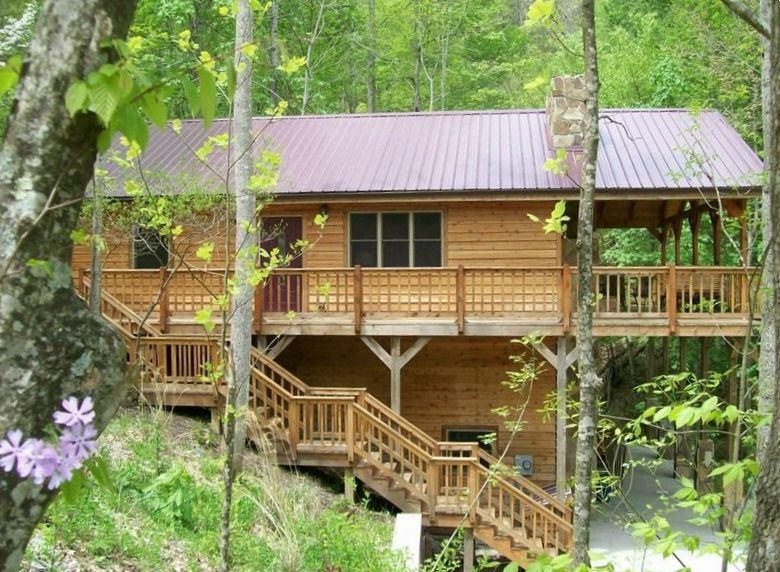 Deluxe mountain cabin near red river gorge natural bridge kentucky 3 br vacation cabin for - Mountain cabin plans close to nature ...