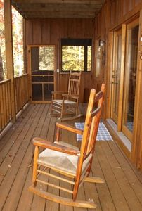 Wrap around porch to main level deck