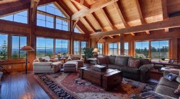 Donner Lake house rental - A timberframe masterpeice with panoramic views