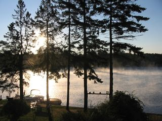 Lake Winnisquam condo photo - Morning Mist on the Lake with your Morning Coffee