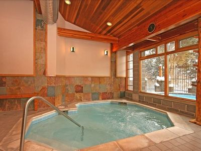 Spa area includes indoor & outdoor tubs