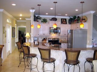 Emerald Shores house photo - View to Gourmet Kitchen, Travertine floors!