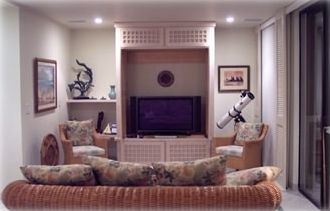 Keauhou condo rental - Media room. Also lock off optional 3rd bedroom, with its own bath and shower.