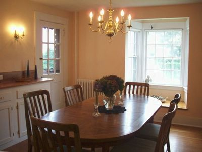 Little Compton house rental - Dining Room with Serving Sideboard