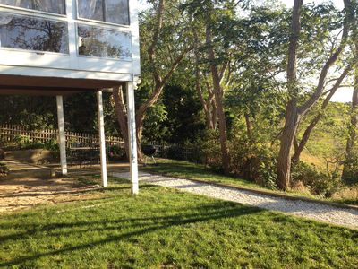 Wellfleet house rental - Sun porch overlooking Duck Creek.